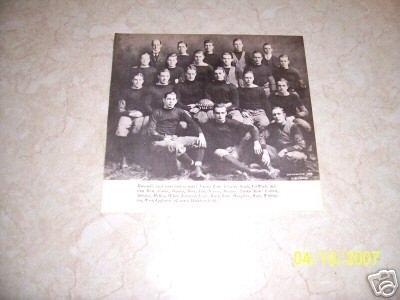 HARVARD 1908 FOOTBAL TEAM PHOTO
