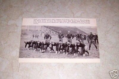 UNIVERSITY OF IOWA 1921 FOOTBALL TEAM PHOTO