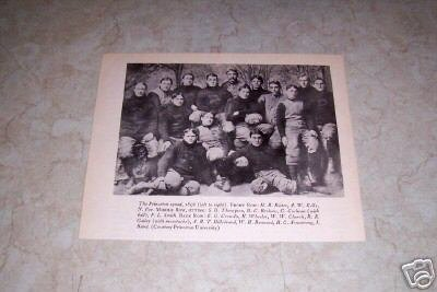 PRINCETON UNIVERSITY 1896 FOOTBALL TEAM PHOTO