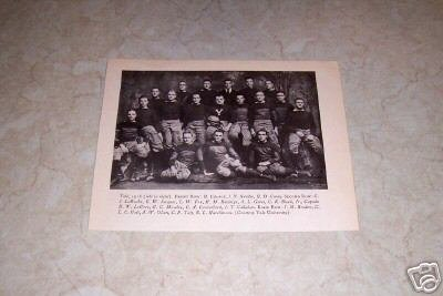 YALE UNIVERSITY 1916 FOOTBALL TEAM PHOTO