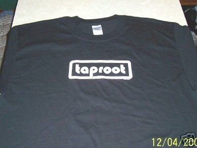 TAPROOT TOUR BLACK T-SHIRT X-LARGE NWOT
