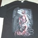 DISTURBED TOUR BLACK T-SHIRT LARGE NWOT