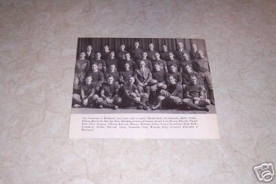 UNIVERSITY OF MICHIGAN 1925 FOOTBALL TEAM PHOTO