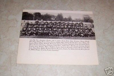 PURDUE UNIVERSITY 1929 FOOTBALL TEAM PHOTO