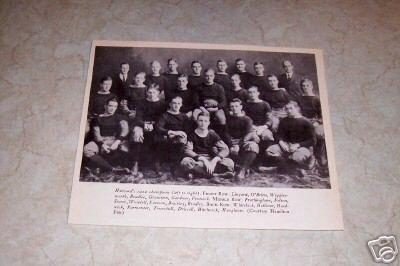 HARVARD 1912 CHAMPIONS FOOTBALL PHOTO