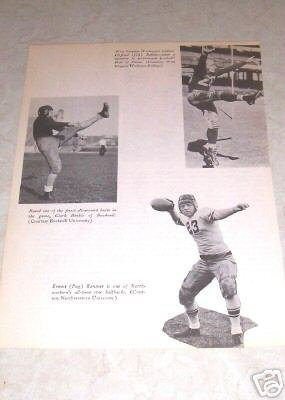 COLLEGE FOOTBALL CLIFFORD BATTLES CLARK HINKLE RENTNER PHOTO