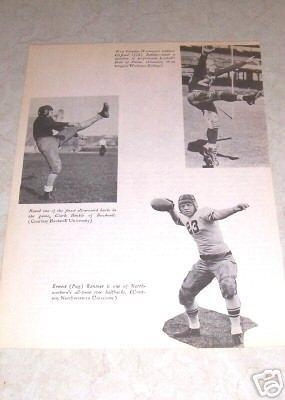 COLLEGE FOOTBALL CLIFFORD BATTLES CLARK HINKLE RENTNER PHOTO
