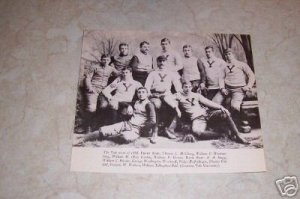 YALE UNIVERSITY 1888 FOOTBAL TEAM PHOTO