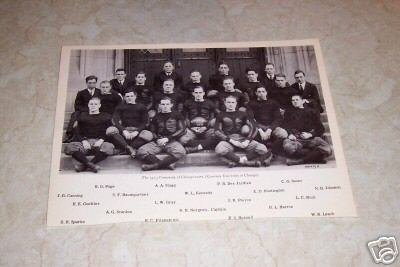UNIVERSITY OF CHICAGO 1913 FOOTBALL TEAM PHOTO