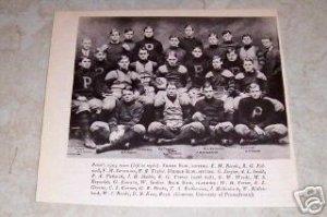 UNIVERSITY OF PENNSYLVANIA 1904 FOOTBALL TEAM PHOTO