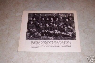 YALE UNIVERSITY 1909 FOOTBALL TEAM PHOTO
