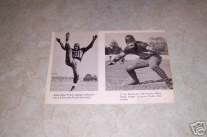 PURDUE UNIVERSITY RALPH WELCH ELMER SLEIGHT FOOTBALL PHOTO