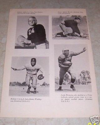 JACKIE ROBINSON BROOKLYN DODGERS UCLA FOOTBALL PHOT0