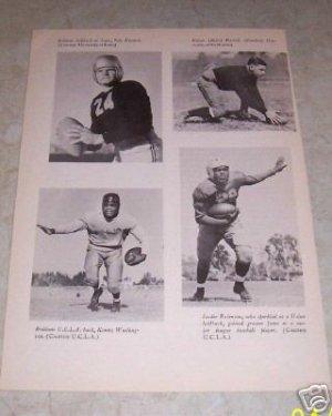 JACKIE ROBINSON BROOKLYN DODGERS UCLA FOOTBALL PHOT0