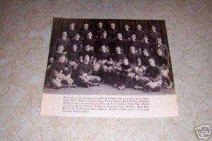 HARVARD 1914 FOOTBALL TEAM PHOTO