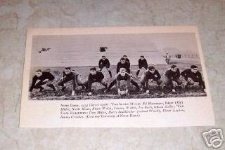UNIVERSITY OF NOTRE DAME 1924  HOUR HORSEMEN FOOTBALL PHOTO