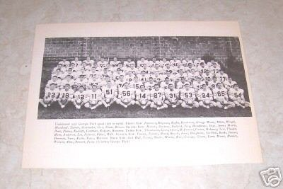 GEORGIA TECH 1952 FOOTBALL TEAM PHOTO