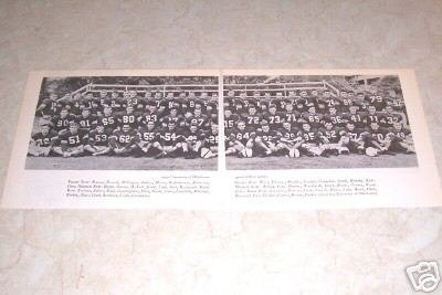 UNIVERSITY OF OKLAHOMA 1949 FOOTBALL TEAM PHOTO