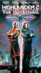 Highlander 2 The Quickening VHS Sean Connery Chris Lambert