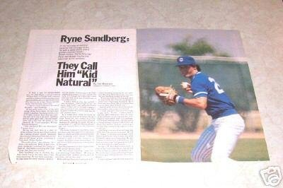 RYNE SANDBERG CHICAGO CUBS Article Photos
