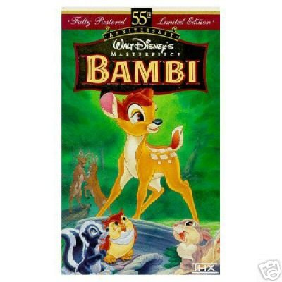 BAMBI VHS Walt Disney Masterpiece 55th Anniversary Movie