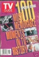 Tv Guide100 Most Memorable Moments in Tv History June 1996