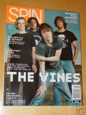 SPIN MUSIC MAGAZINE March 2004 The Vines Courtney Love