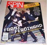 SPIN MUSIC MAGAZINE Oct 2004 Franz Ferdinand