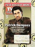TV GUIDE 2005 Patrick Dempsey Sexiest Men Reality Preview