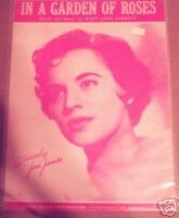 In A Garden Of Roses Sheet Music 1954 Joni James