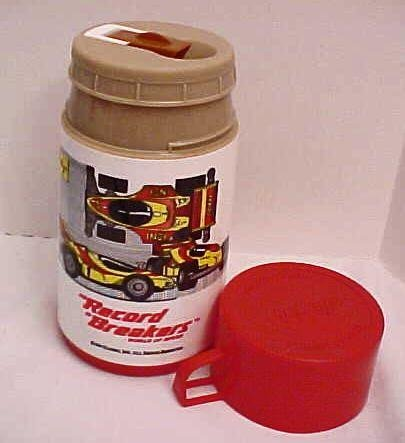RECORD BREAKERS WORLD OF SPEED ALADDIN THERMOS HASBRO