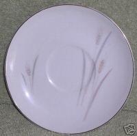 Fine China Japan PLATINUM WHEAT Saucer