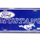 Ford Mustang Blue Running Horse Metal Embossed License Plate New