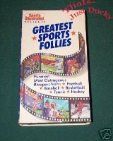 Sports Illustrated GREATEST SPORTS FOLLIES VHS 1989