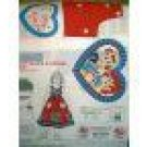 RAGGEDY ANN ANDY I LOVE YOU BODICE FABRIC PANEL