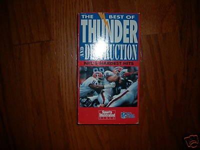 The Best of Thunder & Destruction NFL's Hardest Hits VHS