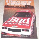 Budweiser 1987 Bud II King of Beers NASCAR Race Car Ad