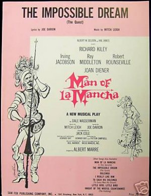The impossible dream man from la mancha sheet music