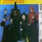 McCall's 3334 WITCH GHOUL COSTUMES Kids 7-16