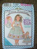 Simplicity 7199 Daisy Kingdom Winnie the Pooh Dress 5-8
