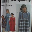 SIMPLICITY 9731 DRESS GIRLS 12-14 Easy to Sew 1995