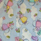 EASTER MINI PRINTS ANGEL BUNNY BUTTERFLY TULIP FABRIC
