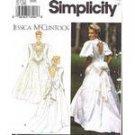 Simplicity 8176 Jessicat McClintock Bride Dress Misses 4-8 1992