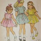 Simplicity 5437 Spring Dress Girls 3 1972 Vintage