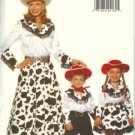 Butterick 4655 WESTERN COWBOY COWGIRL Misses Children