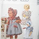 McCall's 7498 Infant Dress Sundress Pinafore Pantaloons 1995