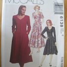 McCall's 6138 Dress Two Lengths Misses 8 1992