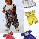 McCall's 5657 Infants Jumpsuit Dress Sm Med Lg 1991