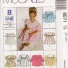 McCall's 8571 Sunday Dress Toddler 1-2-3 1996