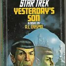 Star Trek Yesterday's Son A.C. Crispin 1983 Sci-Fi